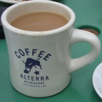 A mug of filter coffee from Alterra, Milwaukee