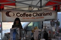 Trish, the Proud Owner of Coffee Charisma, at her Stall on Guildford's North Street Market