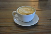 A lovely latte at the Boston Tea Party, Stokes Croft, Bristol