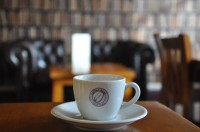 Upstairs at Coffee Bean Central, Plymouth: the espresso eye-view