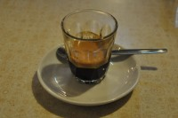 A deliciously sweet espresso in a glass from Boscombe's Cafe Boscanova