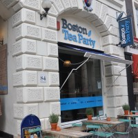 The Boston Tea Party on Exeter's Queen Street