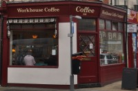 The exterior of Workhouse Coffee Company on the corner of Oxford and Edinburgh Roads