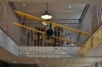 The model aeroplane at the Worcester branch of the Boston Tea Party.