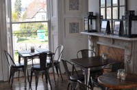 Some of the lovely seating upstairs at Coffee & Co.