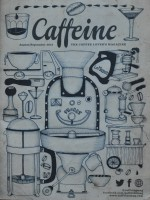 The Excellent Cover of Issue 4 of Caffeine Magazine by Tim Shaw (http://imagineillustration.com/)