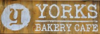 The Yorks Bakery Cafe logo: does what it says on the board.