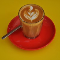 A fine piccolo with excellent latte art, made by head Barista, Sonny, at Brewsters N7.