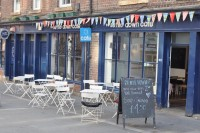 The Settle Down Cafe on Newcastle's Thornton Street. One of the nicest places to sit outside.