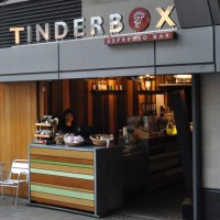 Tinderbox's entrance on the lower level of the N1 Centre, Islington.