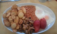 All-day veggie breakfast at Guildford's Woodbridge Road Cafe