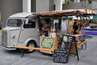 The Bean About Town Citroen Van at the Real Food Market on the South Bank
