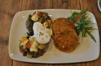 An interesting take on the veggie full English at Brickwood Coffee and Bread