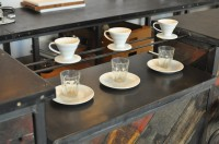 The dedicated filter rack at FreeState Coffee in its own dedicated counter.