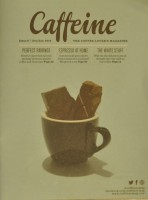 The front cover of Issue 6 of Caffeine Magazine featuring some chocolate in an espresso cup