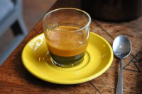 A fine Climpson & Sons espresso in a glass from Birdhouse.