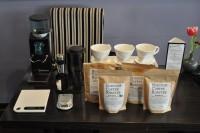 The set-up at my Birthday Coffee Tasting at Bar des Arts