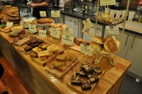 The counter at the Natural Bread Company, Oxford, groaning under the weight of cake!