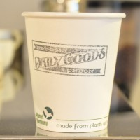 One of Daily Goods London's takeaway coffee cups