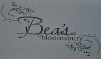Bea's of bloomsbury, from the sign hanging outside the Farringdon branch.