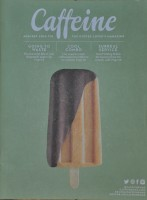 A coffee-based ice lolly on the cover of Issue 10 of Caffeine Magazine