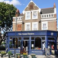 The Tea House Theatre on the edge of Vauxhall Pleasure Gardens, resplendent in the sunshine.