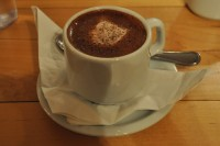 A cup of hot chocolate from L.A. Burdick's Back Bay branch in Boston.