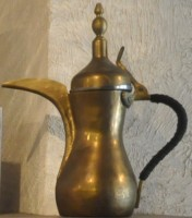 A vintage, brass coffee pot from Filter Coffeehouse and Espresso Bar, Dupont Circle