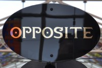 The Opposite Logo, from the top of the kiosk in the Victoria Quarter.