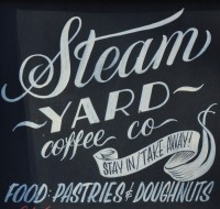 """Steam YARD coffee co, stay in/take away, FOOD: PASTRIES & DOUGHNUTS"""