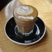 A decaf piccolo with amazing latte art from Greenstreet Coffee Co, Philadelphia