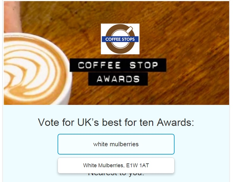 How to find your favourite coffee shop on the Coffee Stops Awards site.