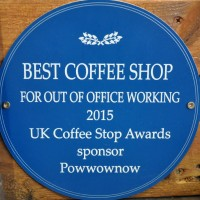 The award-winning 200 Degrees Coffee Shop in Nottingham, which won the Best Coffee Shop For Out Of Office Working at the 2015 Coffee Stop Awards