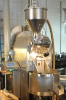 The Brooklyn Roasting Company's 25kg Loring coffee roaster in its current home on Brooklyn's Jay Street.
