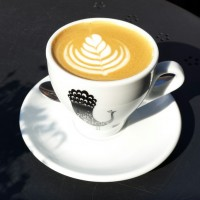 A lovely flat white from the Perky Peacock, Lendal Bridge, using beans from The Perky Peacock's new roaster, Modern Standard, and sporting the new Perky Peacock logo.