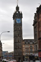 The Tolbooth Steeple, a 17th century tower which sits at the heart of the Glasgow Cross, a junction of five roads in the heart of Glasgow.