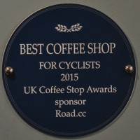 "Giro Cycles won the 2015 ""Best Coffee Shop for Cyclists"" at this year's 2015 UK Coffee Stop Awards."