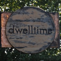 The sign hanging outside dwelltime in Cambridge, although since my visit in June last year, it's changed its name to barismo 364.