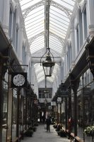 The Morgan Arcade, one of many Victorian shopping arcades in Cardiff. The Morgan Arcade is home to The Plan Cafe.