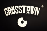 The Crosstown Doughnut logo from outside the coffee shop in Soho.