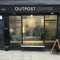 The front of Outpost Coffee in Nottingham