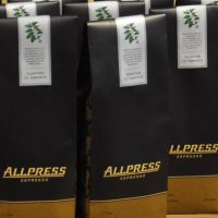 Bags of Allpress Espresso's Guatemala La Espreanza for sale at the roastery.