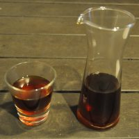 My Indonesian West Java Arananis Honey Process pour-over, served in a carafe with a glass on the side at Barista Jam.