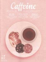 The front cover of issue 25 of Caffeine Magazine: coffee and cured meat pairings.