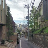 A quiet, narrow Tokyo street 10 minutes' walk from the madness of Shibuya but feeling a million miles away.