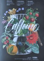 The striking new design on the front cover of Caffeine Magazine, Issue 26