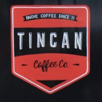 The Tincan Coffee logo, taken from the brunch menu at the North Street branch in Southville, Bristol.