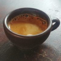 A shot of espresso from For the Good of the People at the Southbank Centre Food Market in my Kaffeeform cup