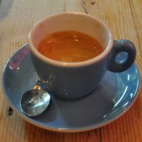 A shot of the eponymous espresso blend from Terrone & Co, served at La Gelatiera on New Row in London.