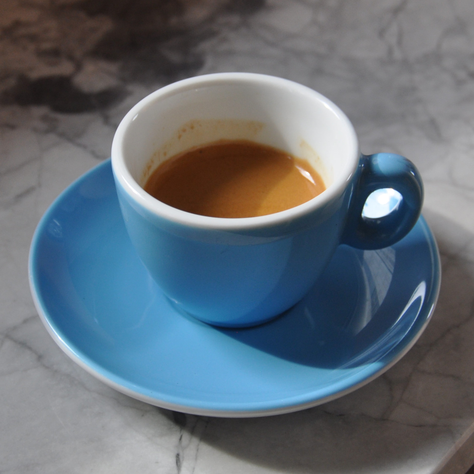 A lovely espresso, pulled on Treves & Hyde's Mavam Espresso machine using Volcano Coffee Works' Full Steam espresso.